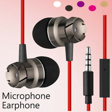3.5mm Metal Stereo Bass In-Ear Mic Earphone Earset For Samsung Galaxy S9 S8 S7