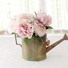 Bouquet 5 Peonie Artificiali in Seta Shabby Collection Colore Rosa Antico