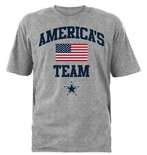 Dallas Cowboys NFL Men's  America's Team Gray Short Sleeve Graphic T-Shirts:M-XL