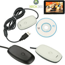 USB PC Wireless Gaming Controller Receiver Adapter for Microsoft XBOX 360 w/ CD