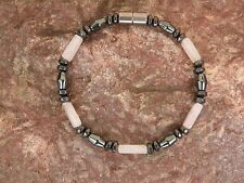 Men's Woman's Magnetic Hematite Rose Quartz NECKLACE BRACELET ANKLET STRONG