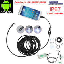 5.5mm 7mm 8mm 720P Android Endoscope Waterproof Borescope Inspection Camera 6LED