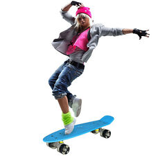 4 Colours Retro Mini Skate Board Complete Cruiser Skateboard 6.1inch Wheel Kids