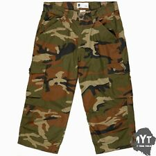 MENS ARMY CASUAL WORK CARGO COMBAT CAMOUFLAGE SHORTS COTTON CHINO 3/4 PANT CAMO