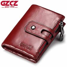GZCZ Women Wallet Female Genuine Leather Short Wallets Coin Purse Small Card