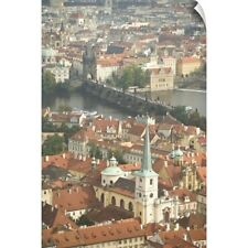 Wall Decal entitled Czech Republic, Prague. View of Prague and the Charles