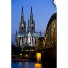 Wall Decal entitled Germany, Cologne, Cologne Cathedral And Hohenzollern Bridge