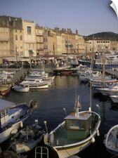 Wall Decal entitled France, St. Tropez, Boats moored in harbor