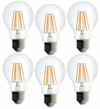Bioluz LED Dimmable 60W Clear Edison Style Filament LED, A19 Light Bulb, Warm Wh