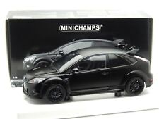 1:18 Scale Ford Focus RS 500 Matt Black Minichamps Diecast Model 100 080000 New