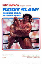 102040 Body Slam Super Pro Wrestling Intellivision Box WALL PRINT POSTER UK
