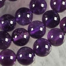 AAA+8mm Natural Russican Amethyst Gemstones Round Loose Beads 15''