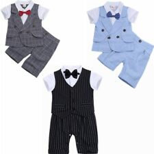 Toddler Kids Baby Boys Clothes Romper Jumpsuit Outfit Bodysuit Gentlemen Set