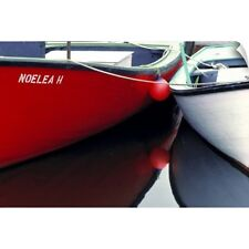 Wall Decal entitled Canada, Nova Scotia, Canso. Two small boats moored together