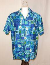 Vintage Royal Blue Royal Hawaiian Men's Short Sleeve Shirt Sz XL