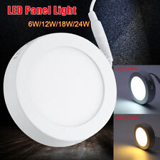 Surface Mounted Ceiling Down LED Panel Light Kitchen Bathroom Lamp 6/12/18/24W