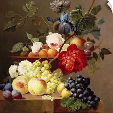 Wall Decal entitled Still life with fruit and flowers