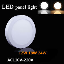 Surface Mounted LED Panel Light Ceiling Downlight 12W 18W 24W Round Lamp 110-220