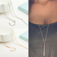 Women Silver Plated Long Chain Lariat Necklace Charm Pendant Necklace Jewelry FU