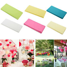 20 Sheets Tissue Paper Solid Colour Wrap Acid Free Flowers 6 colors HI
