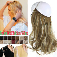 Premier 8A Human Remy Hair Extensions Invisible Wire Crown On In 1PCS Curl Weft