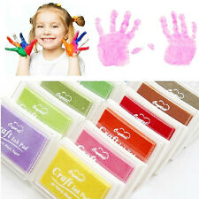 Child Craft Oil Based DIY Ink Pad Rubber Stamps Fabric Wood Paper ScrapbookingFD