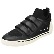 Ash Nepy Mens Black Red Leather Trainers