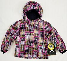 Little Girls' KILLTEC Stripy Mini Insulated Snow Jacket Coat w/ Hood NEON PINK