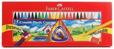 Faber Castell 25 Plastic Crayons Extra Smooth Drawing Painting Fun Activity KIDS