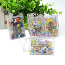 100X Patchwork Pins Flower Button Head Pin DIY Quilting Tool Sewing AccessorieFD