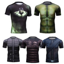 Men Sports Running Compression T-shirts Gym Workout Base Layers Football Tights