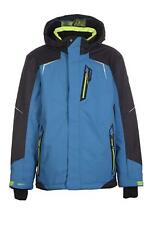 Boys' KILLTEC Yuro Jr Insulated Ski Jacket BLUE Winter Coat w Hood 8K Waterproof