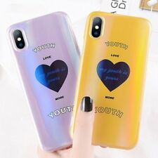 Phone Cases Glitter TPU Back Laser Case Cover For iPhone X 8 7 Plus Love Heart