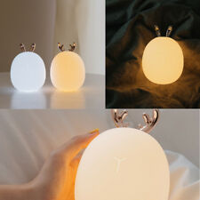 Silicone Color Changing Night Light Sensitive Tap Control LED Touch Lamp Bedroom