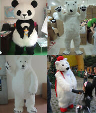 Halloween Polar Bear/Panda Fancy Dress Mascot Costume Suit Cosplay Party Outfit