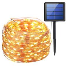 AMIR Solar Powered String Lights, 100 LED Copper Wire Lights, Starry String