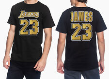 LeBron James -  Real Metallic Gold Los Angeles Lakers #23 NBA Men's Graphic T