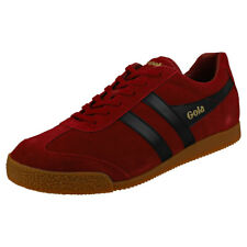 Gola Harrier Mens Red Black Suede Trainers