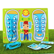 Educational Shoe Laces Board Pegged Puzzles - Learn To Tie Your Shoelace SA