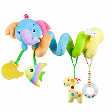 Baby Activity Spiral Plush Toys for Stroller and Travel Activity Car Seat Toy