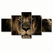 5 Panel Lion Canvas Decor for Living Room Wall Art Canvas Panel Print Picture