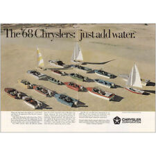 1968 Chrysler Boats: Monahans Sandhills State Park, Add Water Vintage Print Ad