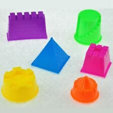 6 Pcs Beach Toys Castle Building Mould Sand Clay Sculpture Mold Game Toy Tool US