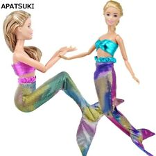 "Colorful Mermaid Tail Doll Dress For 11.5"" Doll Clothes Evening Dresses Gown Toy"