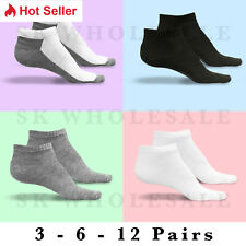 New Lot 3-12 Pairs Mens Womens Ankle Socks Cotton Low Cut Casual Size 9-11 10-13