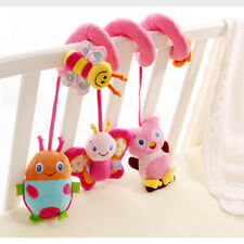 Baby Rattle Mobile Infant Stroller Spiral Plush Toys Mat Crib Hanging Cute Toys