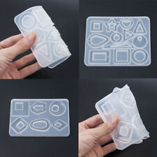 HOT Silicone Earring Necklace Pendant Mold Making Resin Casting Mould DIY Craft