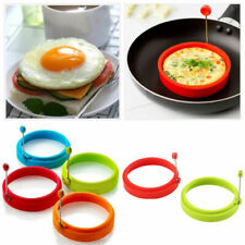 Silicone Round Egg Rings Pancake Mold Ring W Handles Nonstick Nice Frying F F6I0