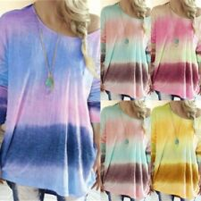 Loose Shirt Crew Neck Womens Ladies Top T-Shirt Long Sleeve Pullover Casual