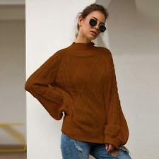 Pullover Casual Sweater Knit Shirt Long Sleeve Loose Jumper T-Shirt Womens Tops